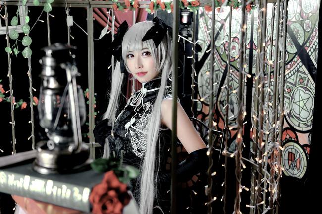 w650 黑旗袍穹妹(๑•̀ㅂ•́)cn嘉佑化妆:我寄几摄影:…Cos正片